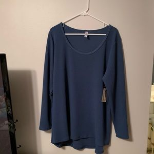 Lynnae cornflower blue long sleeve